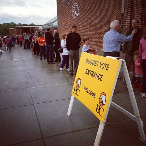 Crowds aplenty across the Capital Region for school budget votes, especially in Bethlehem. Many passed. Read the story here http://www.timesunion.com/local/article/Budgets-fly-with-voters-3559687.php  Did you vote?  — Miichael J. http://www.facebook.com/photo.php?fbid=10150879524474146&set=a.291392419145.144630.288240529145&type=1