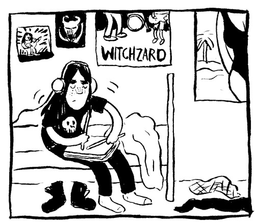 snakeoily:  Panel from Lou #2 by Melissa Mendes.