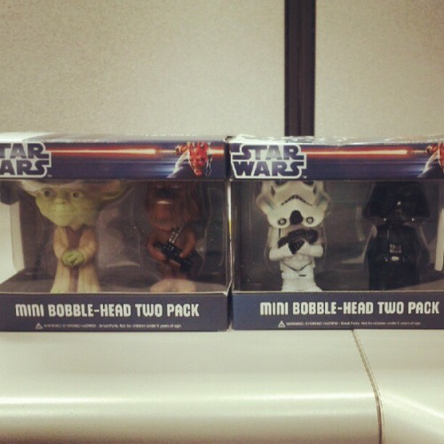 My new deskmates have arrived! #starwars  (Taken with instagram)