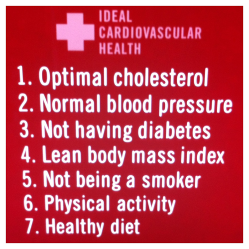 7 factors & health behaviors for ideal cardiovascular health.
