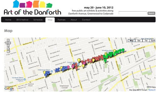 "Beginning this Sunday, May 20th, until June 10th, the Art of the Danforth public art festival is taking place at, you guessed it, the Danforth. As part of Butcher Gallery's zone, Forgetus has produced ""East-West Portal"" by Felix Kalmensen and Dan Thornhill, which creates a video portal between a location on the Danforth and 1691 Dundas West. (venue generously donated by http://someone.ca/)"