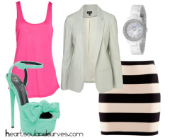 heartsoulandcurves:  Pastel & Neon…. If I was your stylist