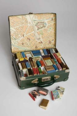 Suitcase full of tiny books