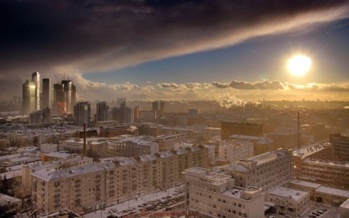 inothernews:  Moscow, as photographed by Boris Bochkarev.   (Exclusivepix via The Telegraph)