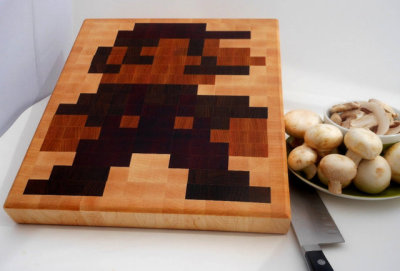 Prairie Oak Studios Nintendo cutting board