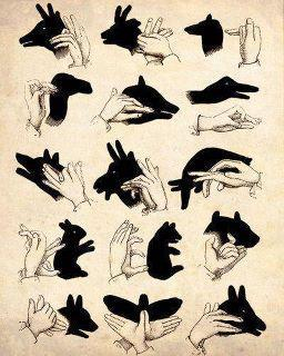 I had a shadow puppets book as a kid…