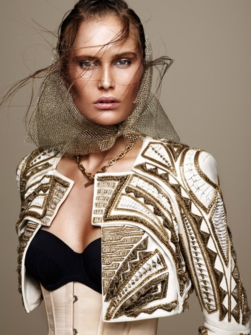 Alla Kostromichova by Jonas Bresnan (Bling Ambition - L'Express Styles May 2012)