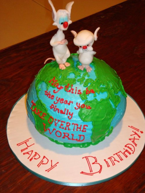 "Pinky and the Brain Cake I think I speak for everyone when I say ""narf!"""