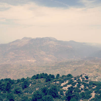 View from the top of Jebel Kelaa: Chefchaouen, Morocco