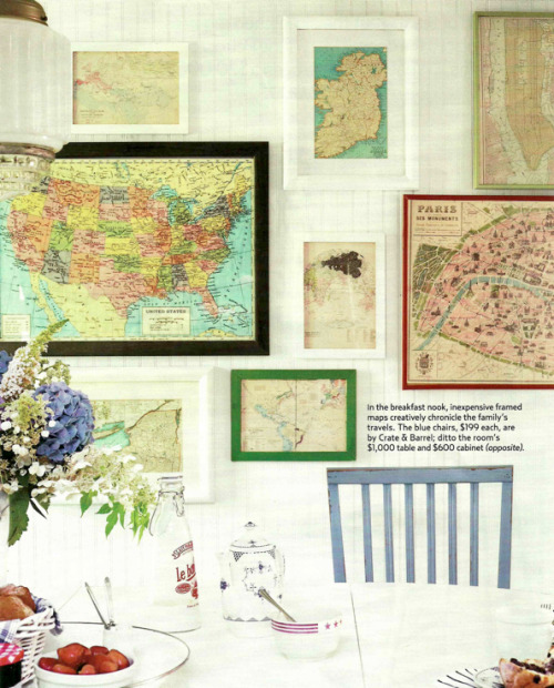 myidealhome:  collection of vintage maps (via Bright.Bazaar)