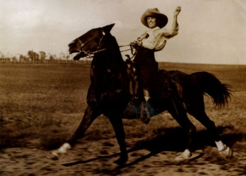 Helen Bonham, a young horsewoman, in Cheyenne, Wyoming in 1919. I will admit, I posted this partly because of the name.