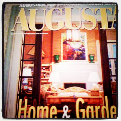Reading the hometown mag #Augusta #southern #home (Taken with instagram)