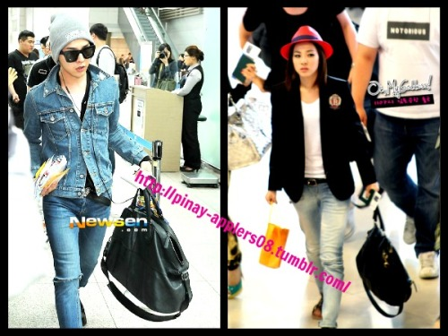 pinay-applers08:  Daragon Airport Fashion. <33  Same Bag?? Coincidence again?? LELS >:))