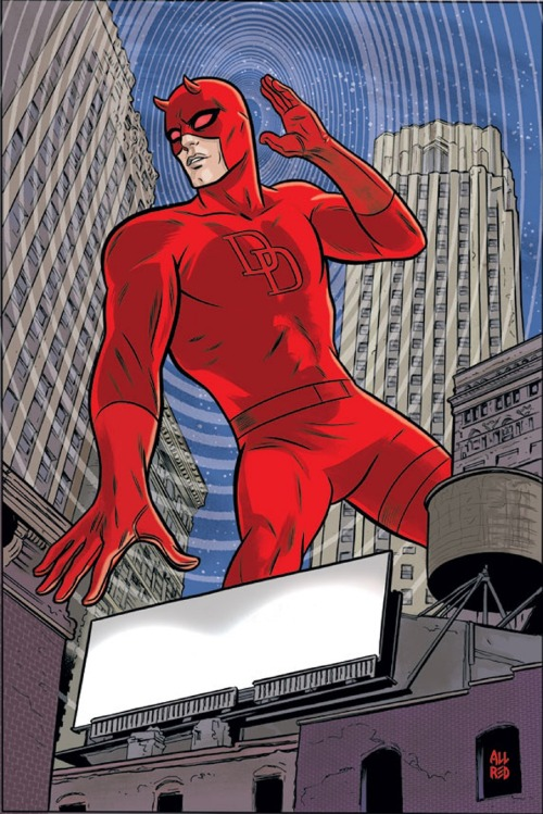 Mike Allred draws Daredevil #17. Well played Marvel, well played.