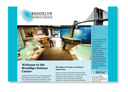 adobe illustrator and indesign. // brooklyn science center brand identity and web design.