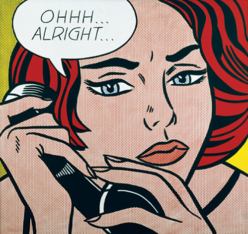 nevver:  Roy Lichtenstein, Ohhh…Alright…, 1964