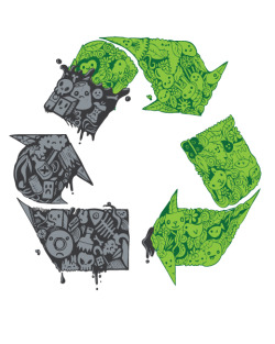 "city-of-vultures:  ""Recycle Takeover"" Craig Watkins  (United States) via Curioos"