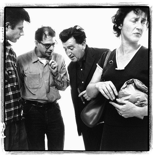 Richard Avedon, Allen Ginsberg and Peter Orlovsky with Brendan Behan and Beatrice ffrench-Salkeld, poets, playwright, and painter, New York, September 28, 1960. Courtesy of Gagosian Gallery.