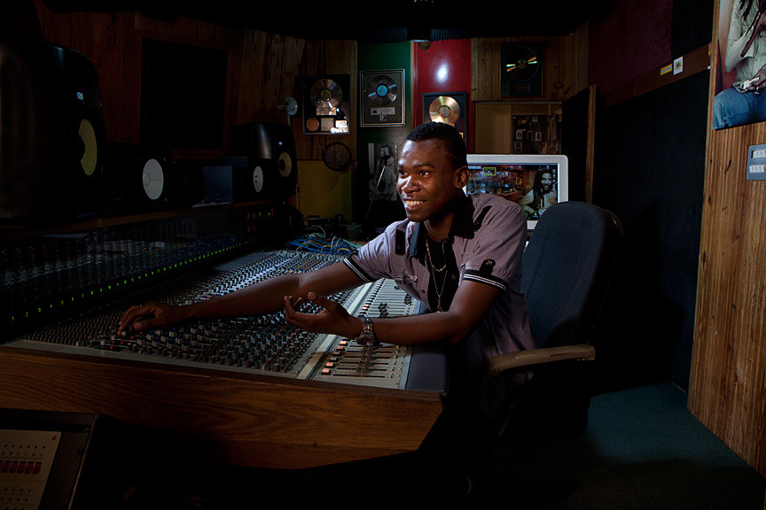 "#reggae #jamaica #advertising #travel #music - This is the engineer that works at the Marley Tuff Gong Studio, Greg ""Cuppy-G"" -  He's a really really nice guy and if you need any engineering done, this is the guy to do it.  Tuff Gong is the biggest most modern studio Ive seen in JA.  HUGE!  Very historic as well.   - By Sam Diephuis"