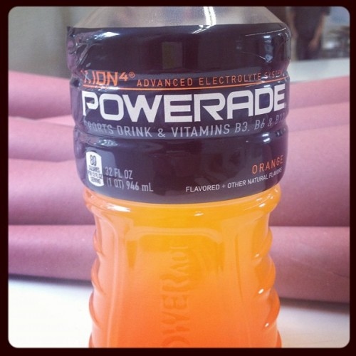 Whatever gets you through #powerade #nomz (Taken with Instagram at Anderson Hall)