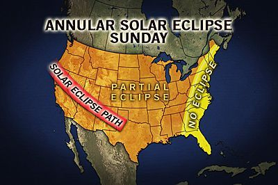 weather.com Sunday will come to a close with a spectacular solar eclipse across much of the United States with the Southwest enjoying the best view and weather.