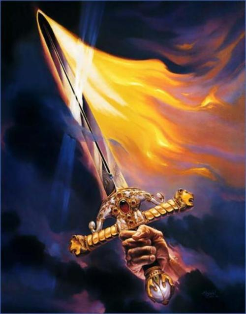 luxoccultapress:  The Flaming Sword