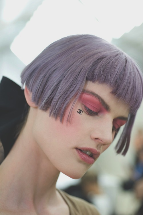 backstage at chanel cruise 2013