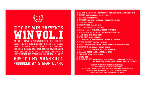W1NSDAY MUSIC: W1N Vol. I Free Download W1N Vol. I has finally arrived! After months of hard work in the studio with some incredibly talented collaborators, we are proud to unveil our soundtrack for the summer. Hosted by Sharkula, the project features over 25 Chicago emcees on 20 tracks produced almost exclusively by our co-founder Stefan Clark. Head over to our music page to download your copy now!