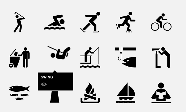 The Noun Project - Swing Icon actually swings on mouse over. /via Shitty Posters