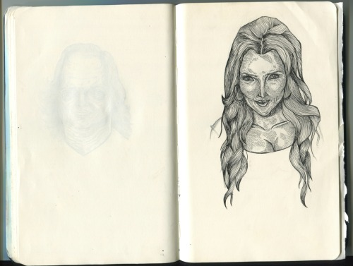 Oh, the plans I have for this Kim Kardashian sketch! Right now it's looking more like Norm MacDonald though….minor set back
