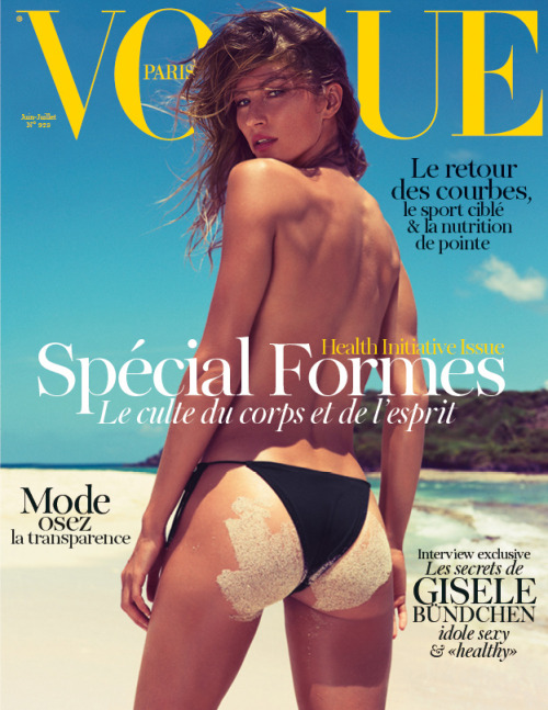Gisele goes topless for Vogue Paris!