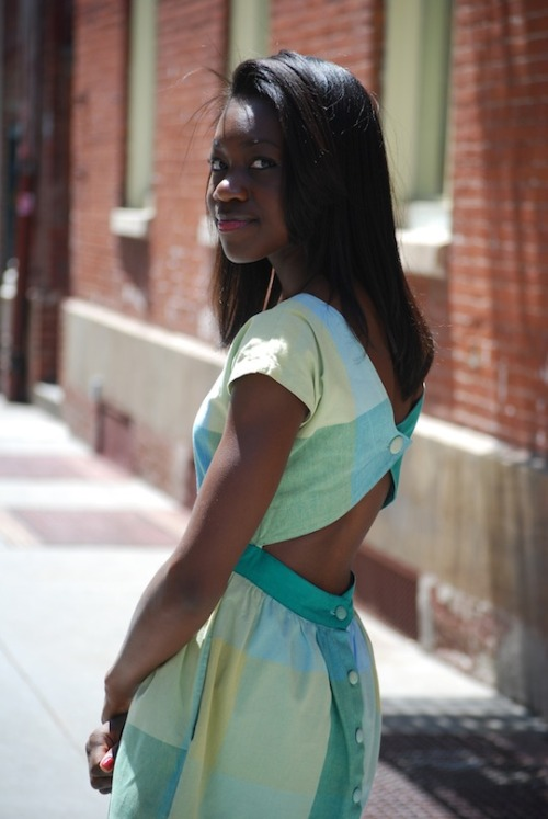 calivintage:  Rebecca Amponsah photographed by Fashionista.