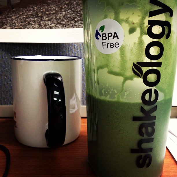 Green Tea & Greenberry Shakeology, it doesn't get better than that! (Taken with instagram)