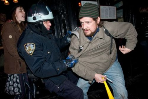 cognitivedissonance:  abokononist:  occupyallstreets:  NYPD Loses OWS Trail After Video Evidence Proved They Made False Arrests Hundreds have been arrested during the Occupy Wall Street protests, but photographer Alexander Arbuckle's case was the first to go to trial – and after just two days, the Manhattan Criminal Court found him not guilty. Arbuckle was arrested on New Year's Day for allegedly blocking traffic during a protest march. He was charged with disorderly conduct, and his arresting officer testified under oath that he, along with the protesters, was standing in the street, despite frequent requests from the police to move to the sidewalk But things got a little embarrassing for the NYPD officer when the defense presented a video recording of the entire event, made by well-known journalist Tim Pool.  Pool's footage clearly shows Arbuckle, along with all the other protesters, standing on the sidewalk. In fact, the only people blocking traffic were the police officers themselves. His lawyers said the video proving that testimony false is what swayed the judge, and the verdict a clear indication that the NYPD was over-policing the protests. Read More  Weird.  If you're shocked, you're not paying attention.