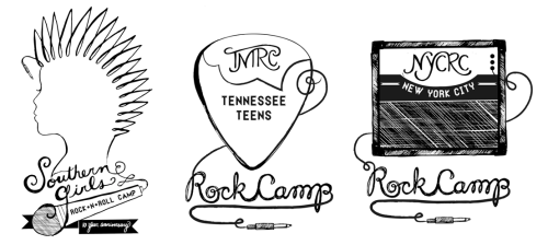 Here's a few shots of the latest illustrations for all the Rock'n'Roll Camps going on this summer through YEAH! Working on tshirt & ink color ideas this week, we'll see what happens!