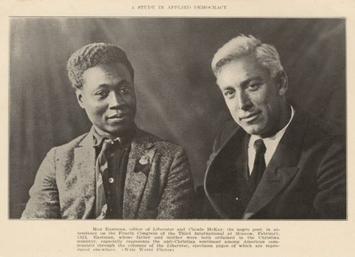 Poet Claude McKay and Max Eastman, editor of the Liberator in attendance at the Fourth Congress of the Third International at Moscow, 1923