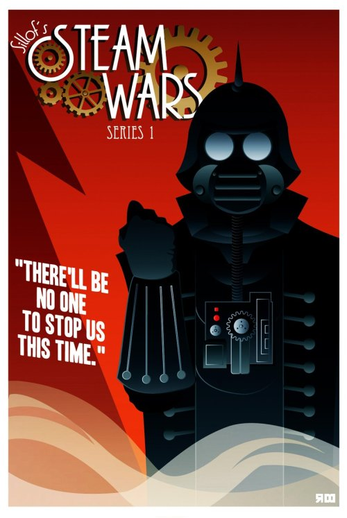 Rather cool retro-feel steampunk Star Wars poster: STEAM WARS poster by ~rodolforever