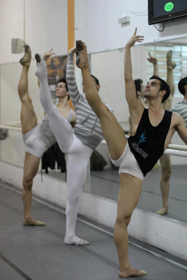 The Brazilian ballet dancers Paulo Vitor, Ruan Martins and Elivelton Tomazi