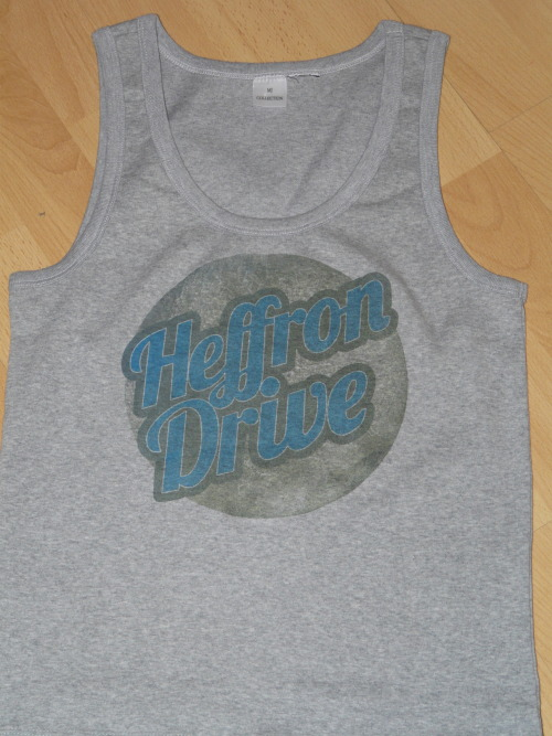 I'm finally done making #HeffronDrive t-shirt. I think I must make new 'cause it ended green!  @HeffronDrive  @dbeltwrites