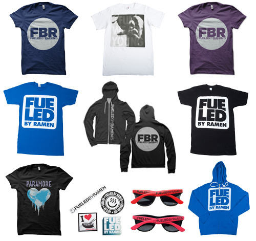 The Bamboozle 2012 Merch Preview Are you attending The Bamboozle this weekend? We'll be there all three days and we can't wait to see everyone. If you're going, stop by the Fueled By Ramen tent for some amazing deals on t-shirts and hoodies -  click HERE to see everything we'll have with us! Fueled By Ramen T-Shirt for $5 Fueled By Ramen 15th Anniversary Book / DVD for $30  Fueled By Ramen 15th Anniversary Book / DVD and T-Shirt for $32