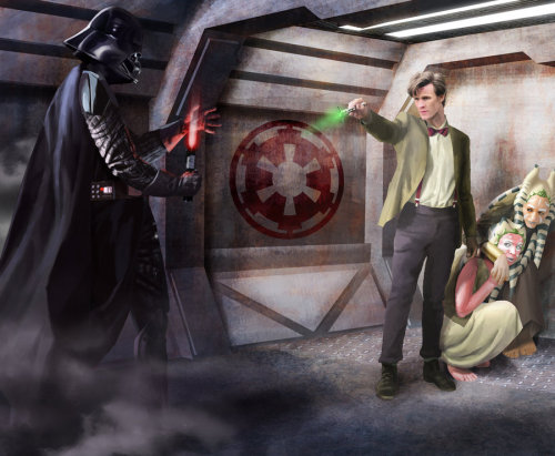 The Doctor vs Darth Vader (cc: @bonniegrrl)