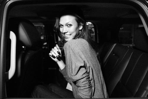 Karlie Kloss on her way to the Met Gala.