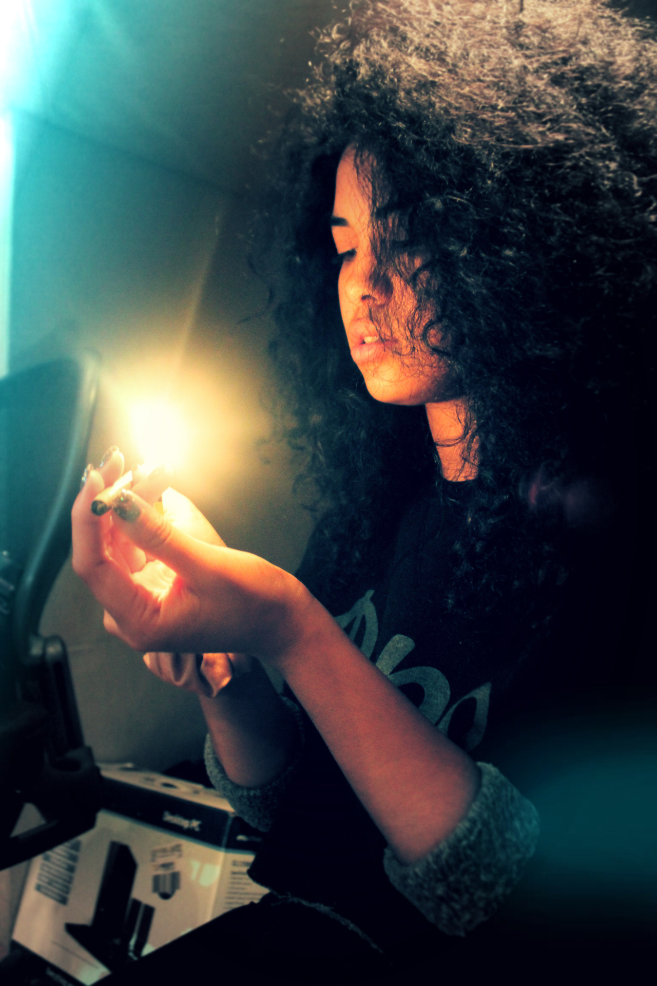 asiadeelight:  swaqqieee:  fire.  @asiadee photographed by @swaqqtv, this is my life in a nutshell.