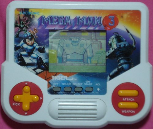 Mega Man 3 LCD handheld by Tiger Electronics.