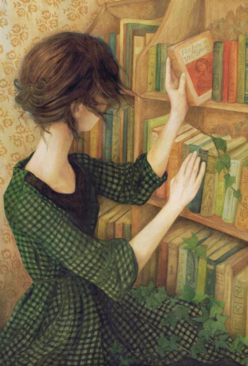 djevojka:Nom Kinnear King thebookenchantress: childhood + books= Things to hold on to