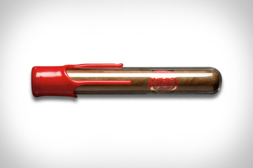 "Maker's Mark now makes cigars - infused with the ""essence"" of the bourbon. We're not quite sure how they taste, but the packaging sure is enticing."