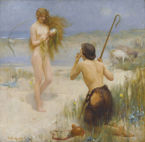 "Arthur Hacker (1858-1919), ""The Sea Maiden"" by sofi01 on Flickr."