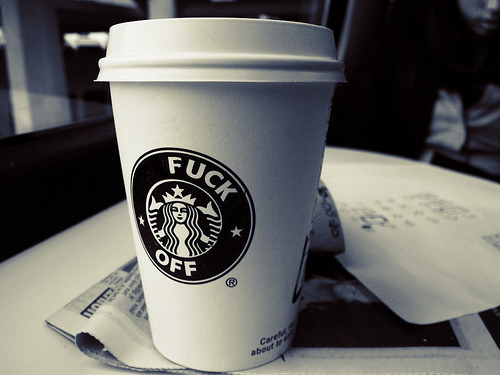 Fuck Off Starbucks Cup (by skinnypictures)