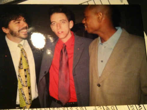 "(Pictured: Me, Giraldo and Chappelle in 1997ish) Anonymous asked you: Ur twitter is awesome, do u worry ur wasting stand up material on us fucks? I'm a lowly open mic comic and even I worry about that. cheers @lesterdiamond28 Call me old fashioned, but I don't see any audience seeing my comedy as ""fucks."" Also, I can still do it in my stand-up if I did it on twitter. In fact, I have a few jokes in my act now that started as tweets. Even if you have a lot of followers, only a handful of people see each tweet, so it's not that big a deal, you fuck. askkneesockssan asked you: Neal: What was your biggest arguing point during your time working with Mr. Chappelle, if you two had any at all? He always painted your relationship rather well. The biggest arguing points were more about logistics: him being late all the time or procrastinating to the point of danger. Also, he went to Africa there at the end. That was a pretty big arguing point. Matter of fact, we didn't even talk for a few years after that, it was such a big arguing point. Anonymous asked you: Ever Meet the late comedian Greg Giraldo? I knew Greg from the time he did open mics. Gonna find a picture from the time we was all young…hold on. -Neal Brennan Submit your questions for Neal Brennan here. Neal Brennan: The Half Hour premieres Friday at 11:30/10:30c."