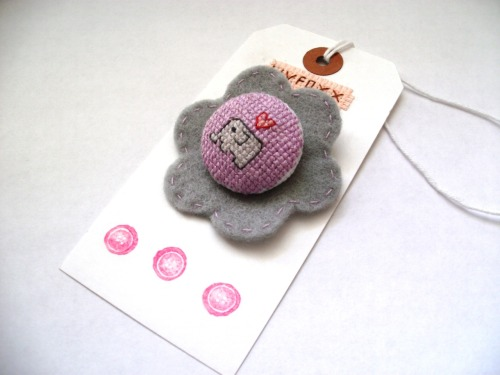 Elephant Love Button Badge - Buy now from the Livfoxx Shop
